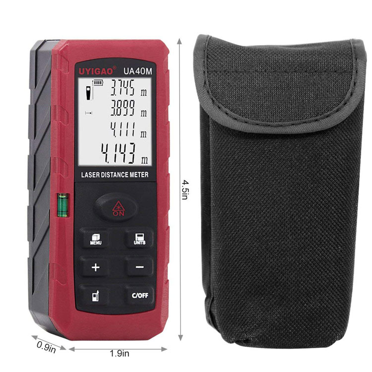 Laser Distance Meter Portable Mute Laser Level with Electronic Bubble Levels Rangefinder