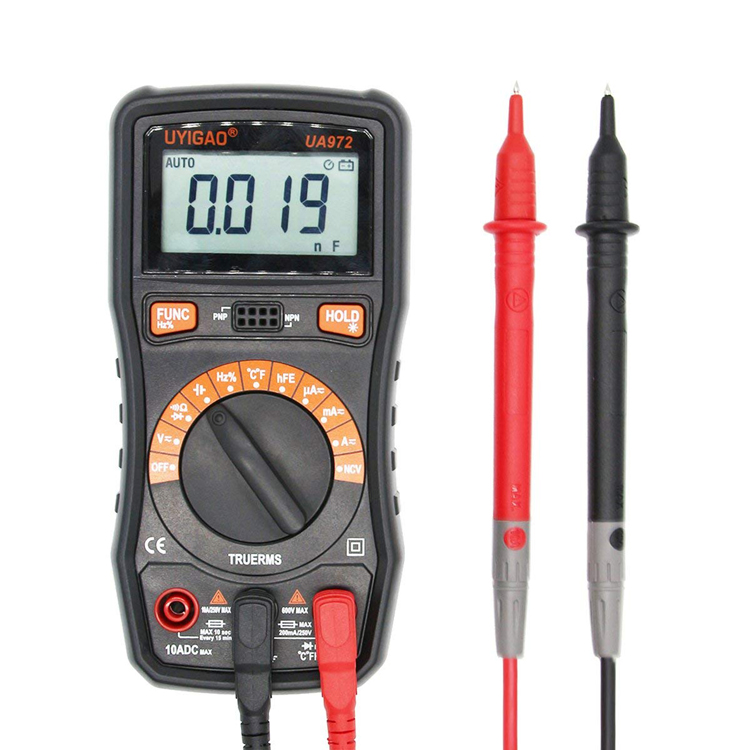 6000 counts mini pocket size automatic digital multimeter with ncv true rms UA972