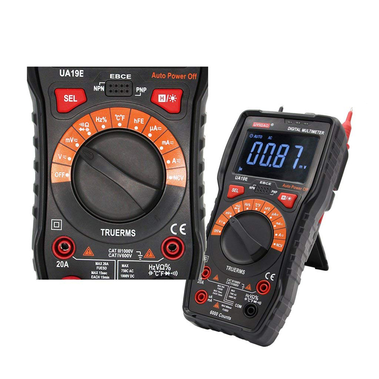 6000 Digits Digital Trms Multimeter With Analog Bar Display For
